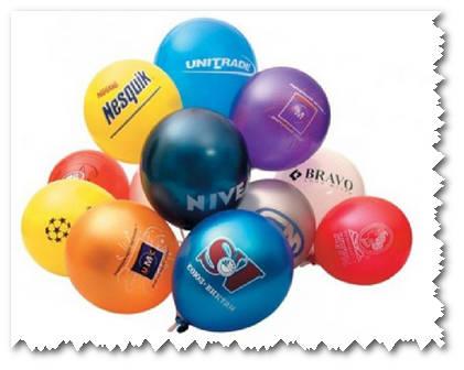 Логотип на шариках
