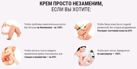 Действие депиляционного крема