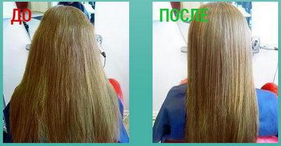 Спрей для волос Platinus V до и после